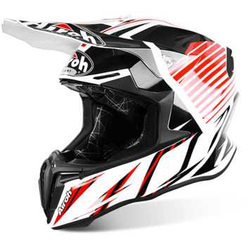 Casque cross AIROH 2016 Twist Strange Rouge Brillant