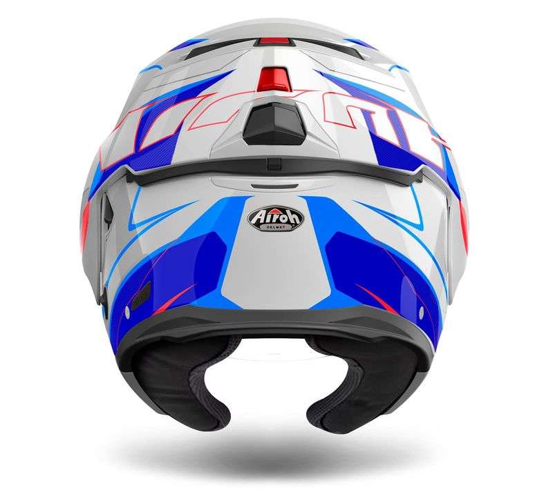 casque modulable route airoh 2017 rev bleu blanc 3as racing. Black Bedroom Furniture Sets. Home Design Ideas