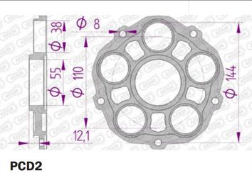 Support Couronne AFAM Ducati PCD2