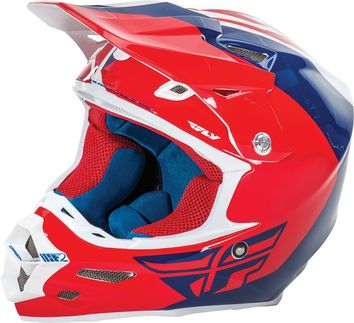 Casque cross Fly 2016 F2 Carbon Pure Rouge Bleu Blanc