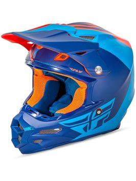 Casque cross Fly 2016 F2 Carbon Pure Bleu MAT Orange