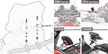 Kit Fixation GIVI Support GPS 04SKIT