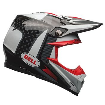 Casque cross BELL 2017 MOTO 9 Carbone Flex Vice - Noir Blanc