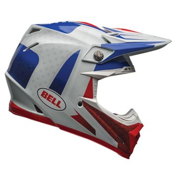 Casque cross BELL 2017 MOTO 9 Carbone Flex Vice - Bleu Rouge