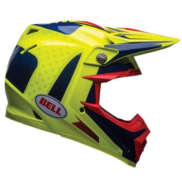 Casque cross BELL 2017 MOTO 9 Carbone Flex Vice - Bleu Jaune