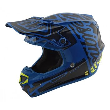 Casque cross Troy Lee Designs 2018 SE4 Factory - Bleu