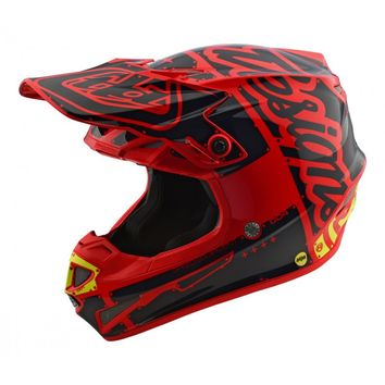 Casque cross Troy Lee Designs 2018 SE4 Factory - Rouge