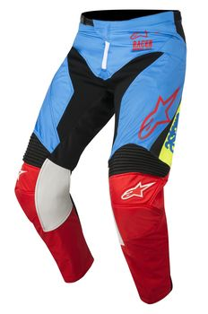 Pantalon cross Enfant Alpinestars 2018 Racer Supermatic - Aqua Noir Rouge