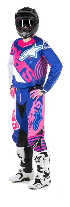 tenue cross 2018 alpinestars techstar venom bleu rose blanc 3as racing. Black Bedroom Furniture Sets. Home Design Ideas