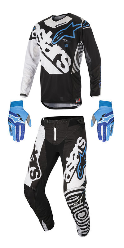 tenue cross 2018 alpinestars techstar venom noir blanc aqua 3as racing. Black Bedroom Furniture Sets. Home Design Ideas