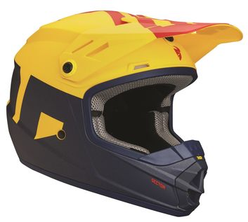 Casque cross Enfant Thor 2018 Sector Level - Bleu Jaune