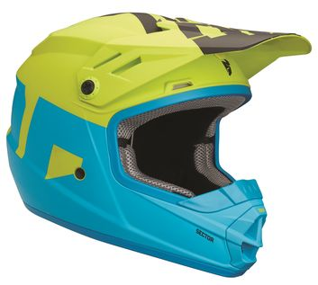 Casque cross Enfant Thor 2018 Sector Level - Bleu Lime