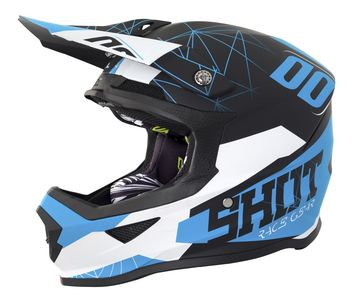 Casque cross SHOT 2018 Furious Spectre - Noir Bleu Mat