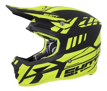 Casque cross SHOT 2018 Furious Riot - Jaune Fluo Mat