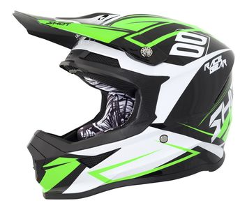 Casque cross SHOT 2018 Furious Alert - Noir Vert