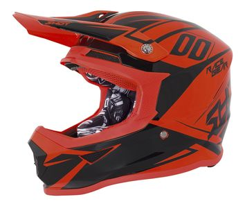 Casque cross SHOT 2018 Furious Alert - Orange Fluo