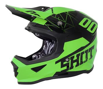 Casque cross SHOT 2018 Furious Spectre - Vert Fluo