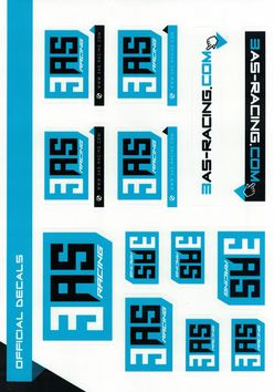 Planche A4 de 13 stickers 3AS Racing