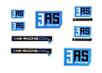 Lot de 8 stickers 3AS Racing