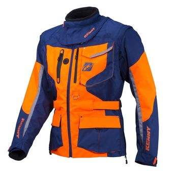 Veste Enduro KENNY 2018 Titanium - Bleu Marine Orange