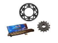 Kit Chaine AFAM alu AJP 125/200 PR3 Enduro 2008-11 12/39 dents