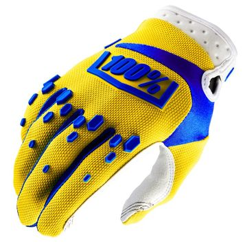 Gants cross 100% Airmatic - Jaune