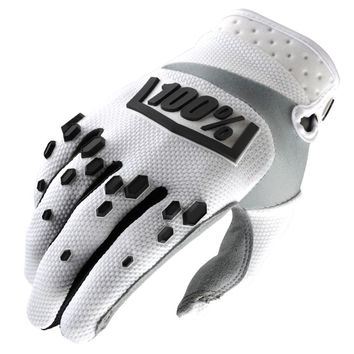 Gants cross 100% Airmatic - Blanc Noir