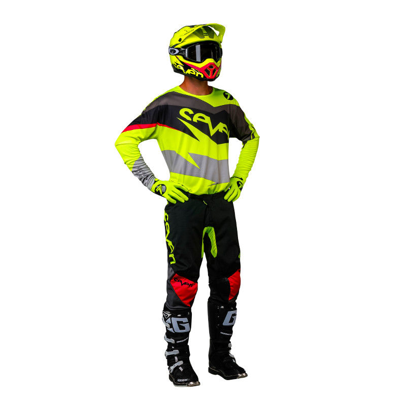 tenue cross seven 2018 annex ignite 18 1 noir jaune fluo 3as racing. Black Bedroom Furniture Sets. Home Design Ideas