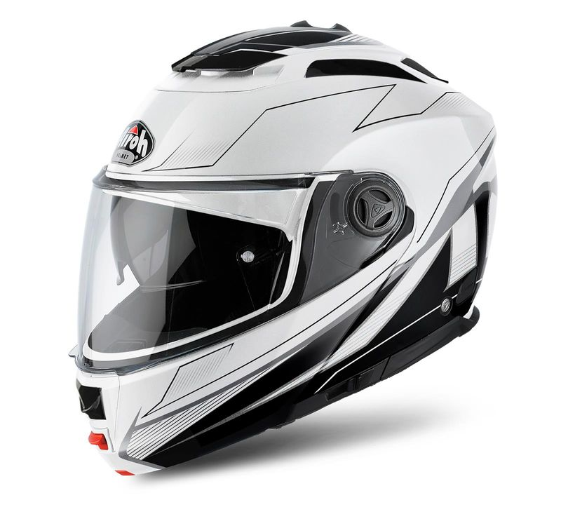 casque modulable route airoh phantom s spirit blanc brillant 3as racing. Black Bedroom Furniture Sets. Home Design Ideas