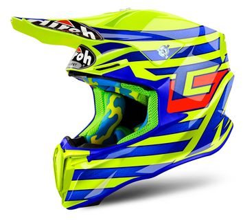 Casque cross AIROH 2018 Twist Cairoli Qatar - Jaune Brillant