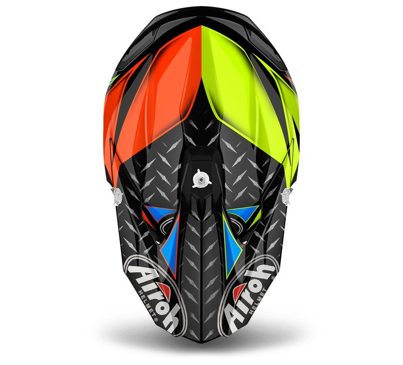 Casque Cross Airoh Twist Iron Orange Brillant 3as Racing