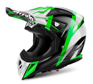 Casque cross AIROH 2018 Aviator 2.2 Revolve - Vert Brillant