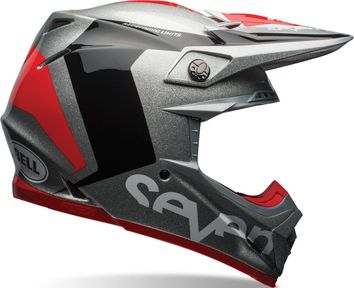 Casque cross BELL MOTO 9 Carbon Flex Seven Rogue - Noir Rouge 53/54 - XS