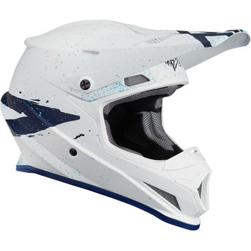 Casque cross Thor 2018 Sector Hype - Blanc Bleu