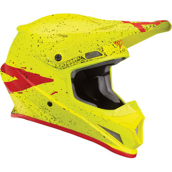 Casque cross Thor 2018 Sector Hype - Jaune Fluo Rouge