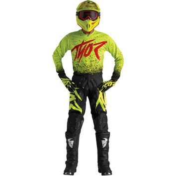 Tenue Cross 2018 Thor Pulse Hype - Jaune Fluo Noir