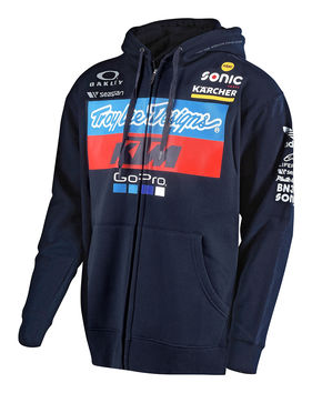 Sweat Shirt zippé Troy Lee Designs KTM Team - Bleu