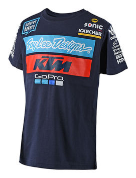T-Shirt Enfant Troy Lee Designs KTM Team - Bleu