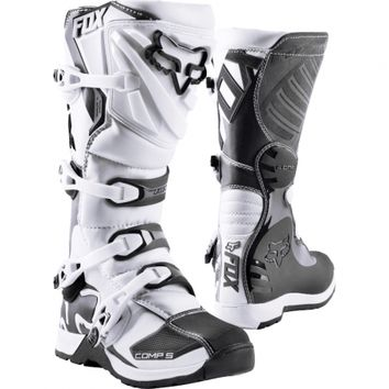 Bottes cross Fox Comp 5 - Blanc