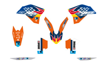 Kit déco 3AS Racing édition Factory KTM 125/250/300 EXC 250/350/450 EXC-F 2008-2011