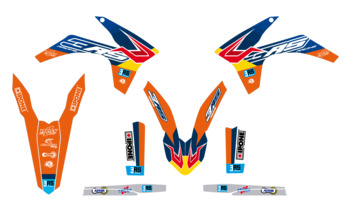 Kit déco 3AS Racing édition Factory KTM 125/250/300 EXC 250/350/450 EXC-F 2012-2013