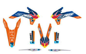 Kit déco 3AS Racing édition Factory KTM 125/250/300 EXC 250/350/450 EXC-F 2014-2015