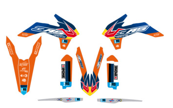 Kit déco 3AS Racing édition Factory KTM 125/250/300 EXC 250/350/450 EXC-F 2016