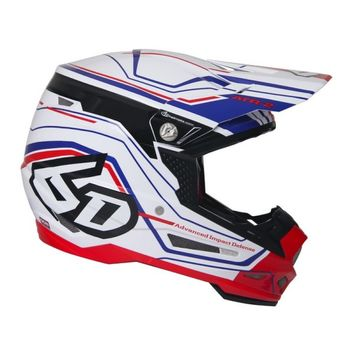 Casque cross 6D 2018 ATR-2 Circuit - Blanc