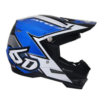 Casque cross 6D 2018 ATR-2 Strike - Bleu Blanc