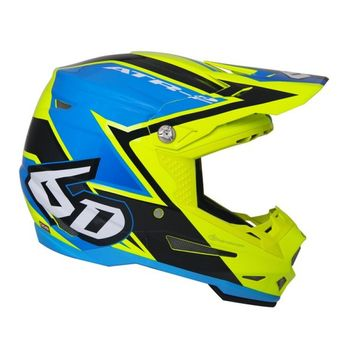 Casque cross 6D 2018 ATR-2 Strike - Jaune Bleu