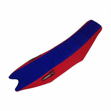 Housse de selle CrossX Racing avec bandes BETA 125/250/300/350/390/430/480 RR 2013-2017 Bleu