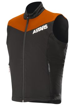 Body warmer Alpinestars Session Race - Orange Fluo Noir