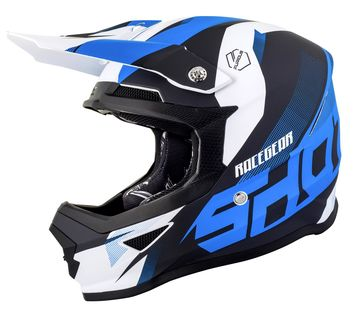Casque cross Shot 2019 Furious Ultimate - Bleu Mat