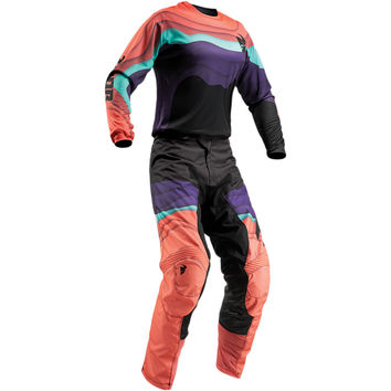 Tenue Cross Femme 2019 Thor Pulse DEPTHS - Noir Corail
